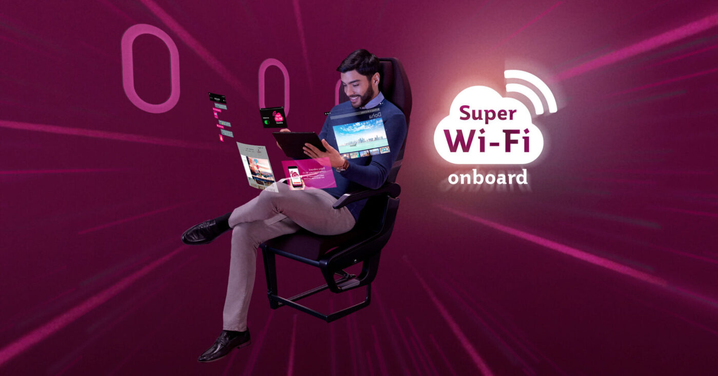 Qatar Airways celebrates growth of super Wi-Fi equipped fleet by offering 100 days of free connectivity