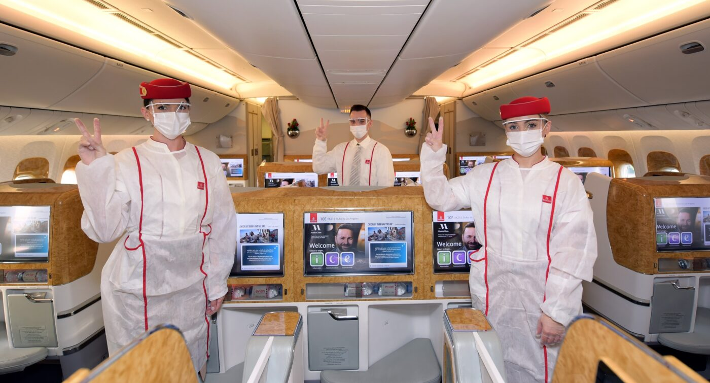 Emirates operates flight with fully vaccinated frontline teams across all customer touchpoints